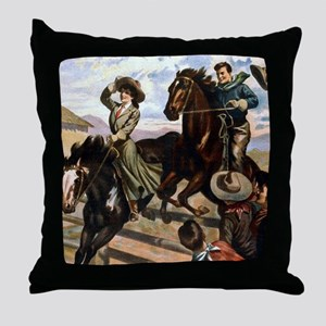 Wild West American Cowboys Throw Pillow