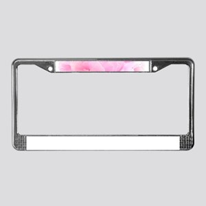 pink peony License Plate Frame