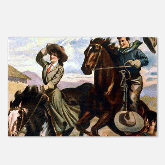 Equestrian Wild West Cow Postcards (Package of 8)