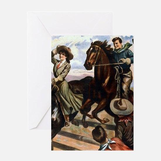 Equestrian Wild West Cowboys Greeting Cards