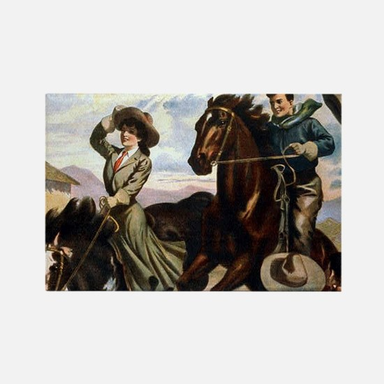 Equestrian Wild West Cowboys Magnets