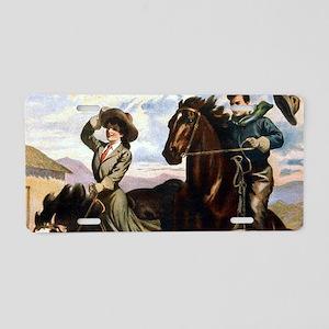 Equestrian Wild West Cowbo Aluminum License Plate