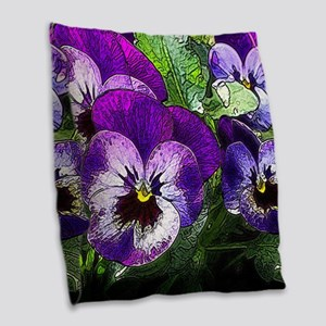 Pansy20160301 Burlap Throw Pillow