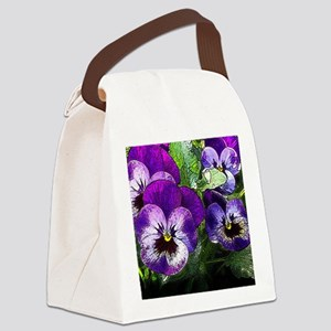 Pansy20160301 Canvas Lunch Bag