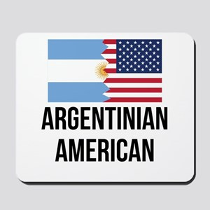 Argentinian American Flag Mousepad