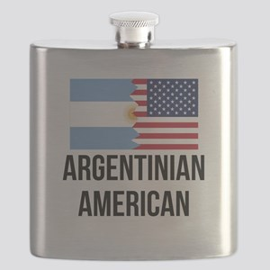 Argentinian American Flag Flask