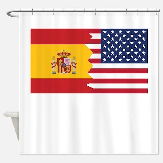 Spanish American Flag Shower Curtain