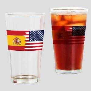 Spanish American Flag Drinking Glass