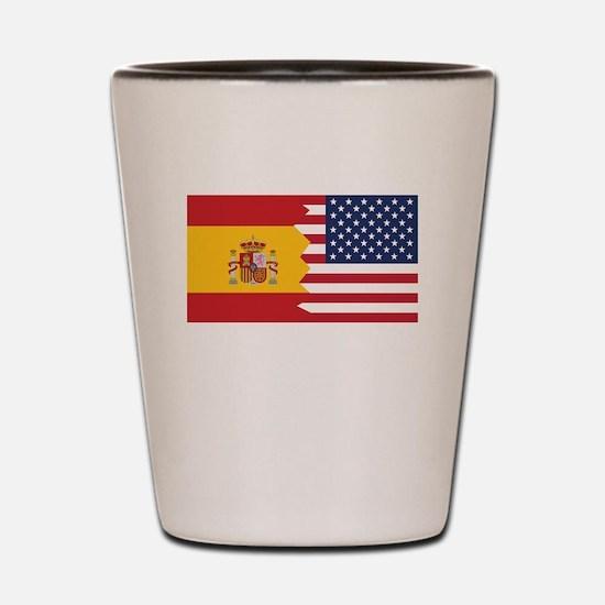 Spanish American Flag Shot Glass