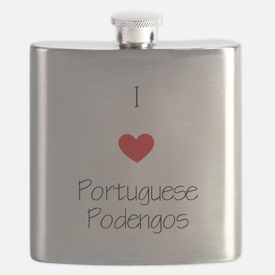 I love Portuguese Podengos Flask