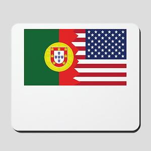 Portuguese American Flag Mousepad
