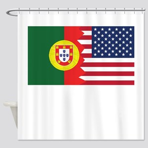 Portuguese American Flag Shower Curtain