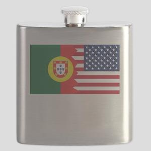 Portuguese American Flag Flask