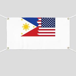 Filipino American Flag Banner