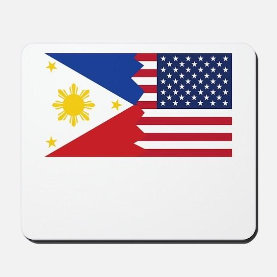 Filipino American Flag Mousepad