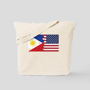 Filipino American Flag Tote Bag
