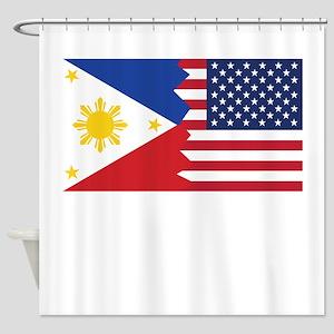 Filipino American Flag Shower Curtain