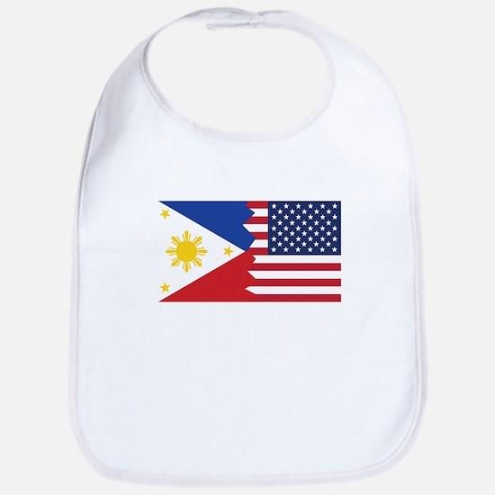 Filipino American Flag Bib
