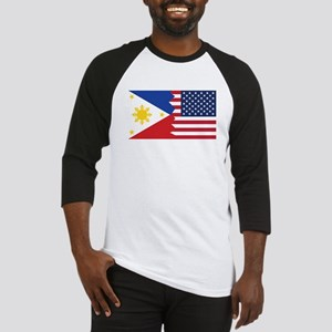 Filipino American Flag Baseball Jersey