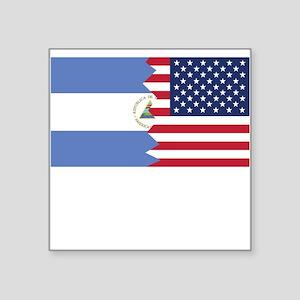 Nicaraguan American Flag Sticker