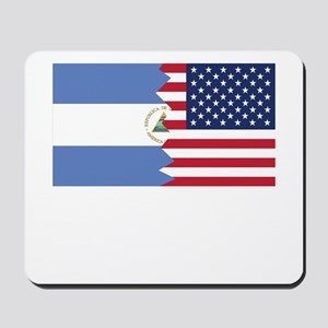 Nicaraguan American Flag Mousepad