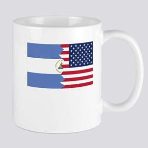 Nicaraguan American Flag Mugs