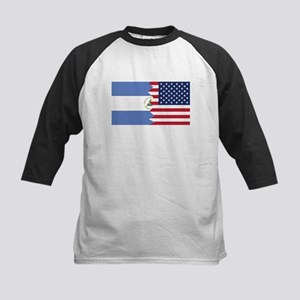 Nicaraguan American Flag Baseball Jersey