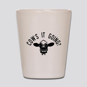 Cows It Going Shot Glass