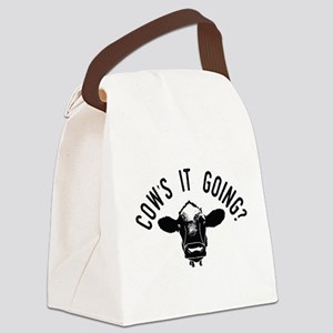 Cows It Going Canvas Lunch Bag