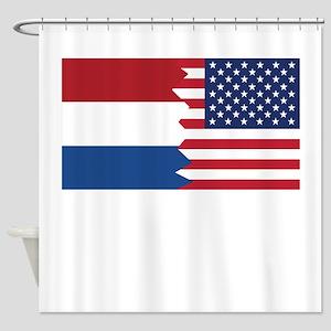 Dutch American Flag Shower Curtain