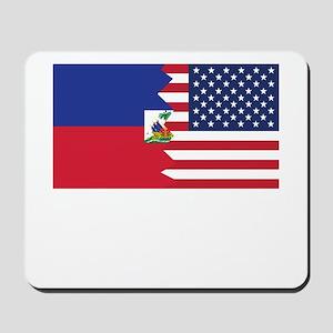 Haitian American Flag Mousepad