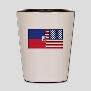 Haitian American Flag Shot Glass