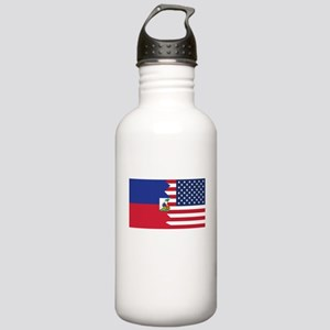 Haitian American Flag Water Bottle