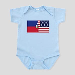 Haitian American Flag Body Suit