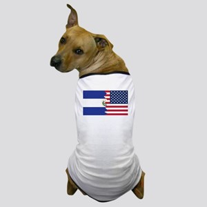 El Salvadorian American Flag Dog T-Shirt
