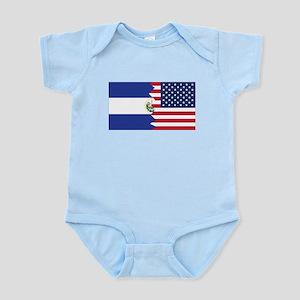 El Salvadorian American Flag Body Suit