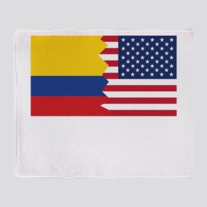 Colombian American Flag Throw Blanket