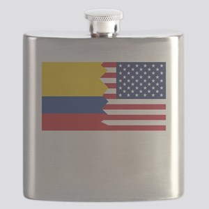 Colombian American Flag Flask