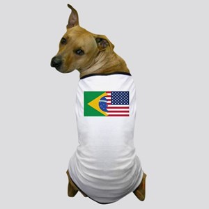 Brazilian American Flag Dog T-Shirt