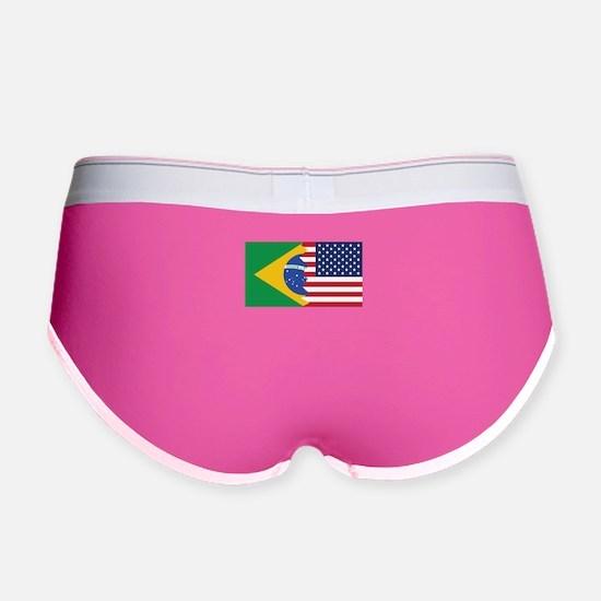 Brazilian American Flag Women's Boy Brief