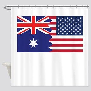 Australian American Flag Shower Curtain