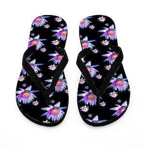 b3be171d099cf3 Lotus Flower Flip Flops - CafePress