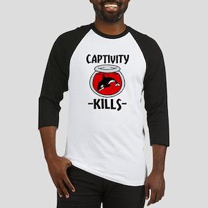 Captivity Kills Free the Orca Whal Baseball Jersey