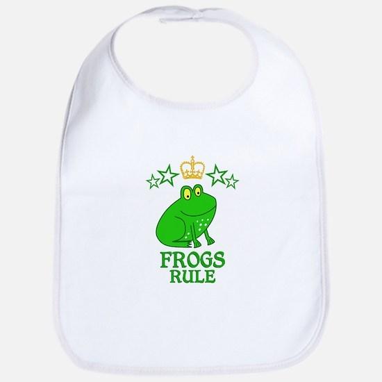 Frogs Rule Bib