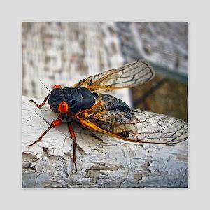 Red Eyed Cicada Queen Duvet