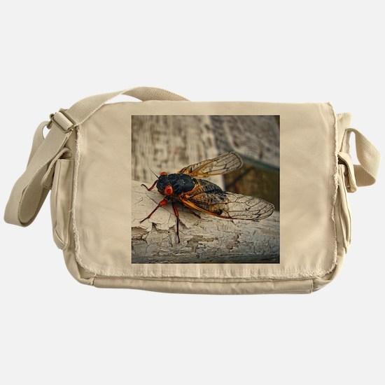 Red Eyed Cicada Messenger Bag