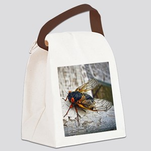 Red Eyed Cicada Canvas Lunch Bag