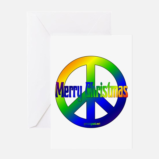 Merry Christmas Peace Sign Greeting Card