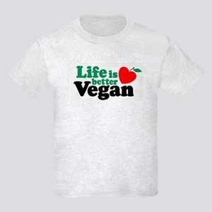 Life is Better Vegan Kids Light T-Shirt