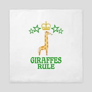 Giraffes Rule Queen Duvet